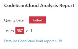 Failed Qualiy Gate
